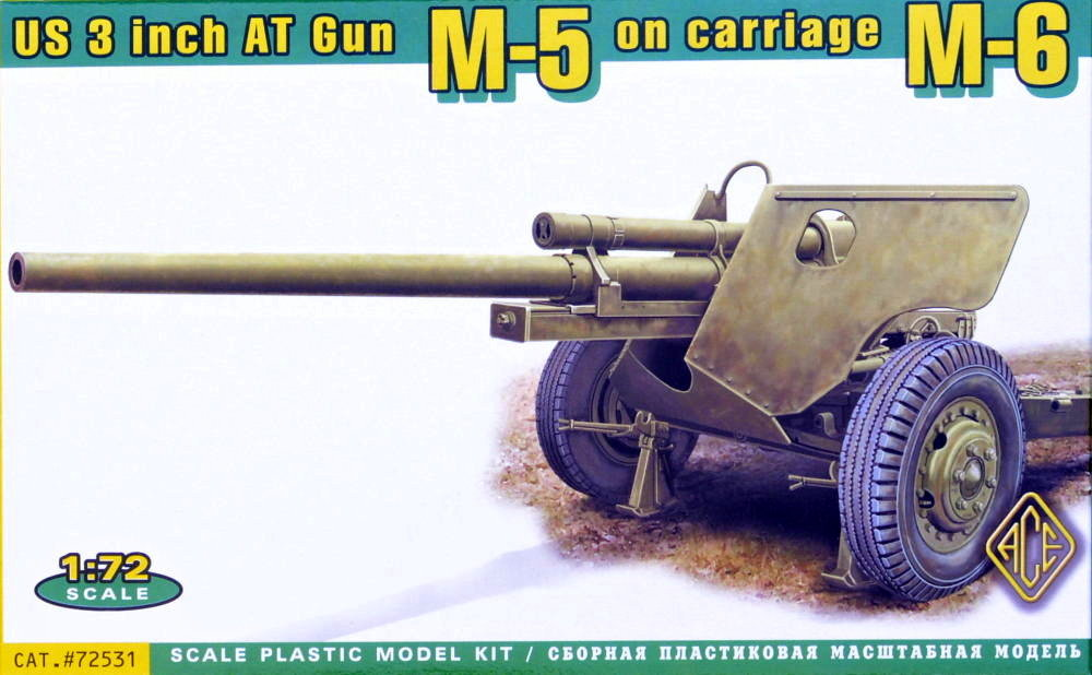 1/72 US 3 inch AT Gun M-5 on carriage M-6
