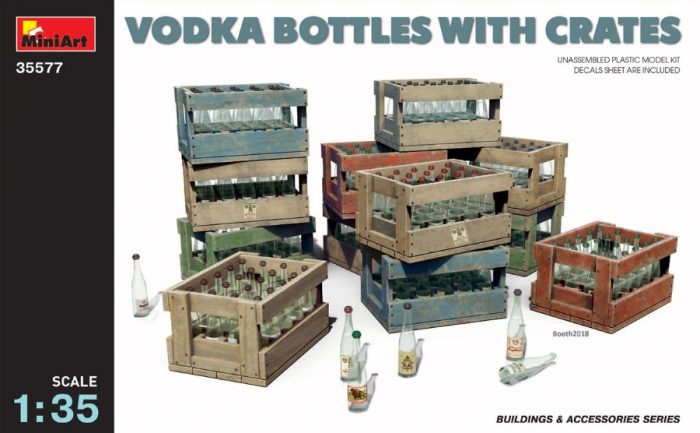 1/35 Vodka Bottles with Crates (incl. decals)