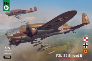 1/72 PZL-37B Los Polish Twin-engined Medium Bomber