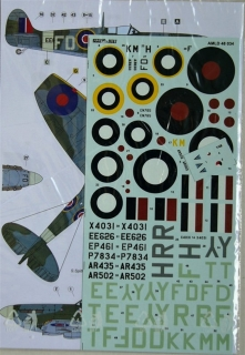 1/48 Decals Czechoslovak commanders in Spitfires