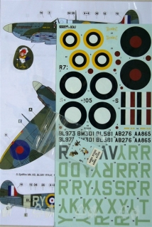 1/48 Decals Spitfire Mk.IA & VB (313th RAF Sqdr.)
